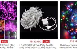 Beli lampu kelip kelip cantik dan murah melalui internet di website eCommerce Lazada Malaysia