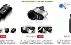 Beli pengecas bateri telefon untuk kereta murah online di website eCommerce Lazada Malaysia