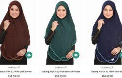 Beli tudung labuh muslimah yang labuh panjang dan cantik di website eCommerce Tudung2U