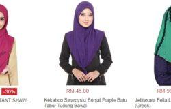 Cara mudah beli tudung murah online dan cantik di Lazada Malaysia