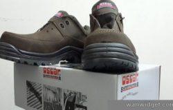 Gambar sebenar kasut safety boot yang saya pernah beli dan gunakan