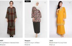 Koleksi terbaru baju kurung hari raya dari website eCommerce FashionValet