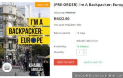 Order buku travelog backpacker europe di internet