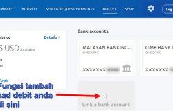 Fungsi attach kad debit tempatan Malaysia ke akaun Paypal