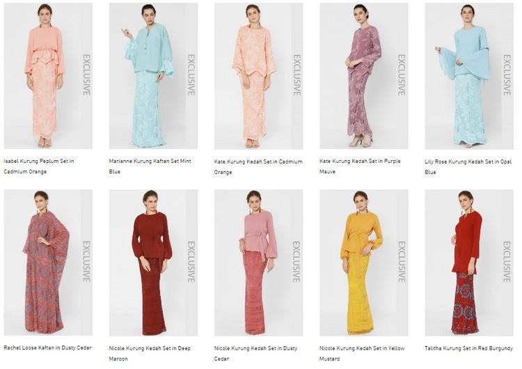 Lubuk Baju Raya Wanita Muslimah Malaysia Terkini