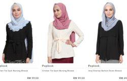 Baju kurung pasang siap jenis blouse yang murah di bawah RM100