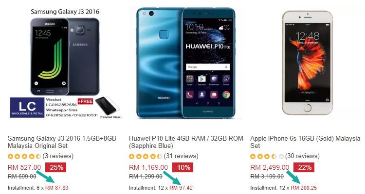 Beli Handphone Secara Ansuran Online - eCommerce In Malaysia