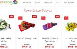 Servis dan perkhidmatan penhantaran hadiah bunga seluruh Malaysia