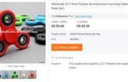 Fidget spinner di jual dengan harga murah dari China