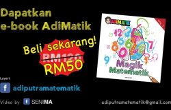 Dapatkan buku formula matematik AdiMatik dari Adi Putra