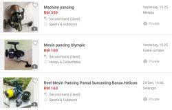 Anda boleh beli dan dapatkan mesin pancing terpakai murah di mudah.my
