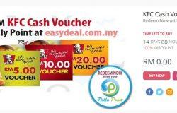 Dapatkan voucher KFC dengan harga murah di website Easydeal