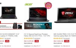 Senarai jenama komputer riba gaming yang terbaik dijual di Lazada Malaysia