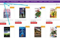 Website kedai buku online melayu dari BookCafe menawarkan diskaun paling tinggi