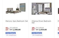 Beli set katil bilik tidur berkualiti dan cantik di 11Street