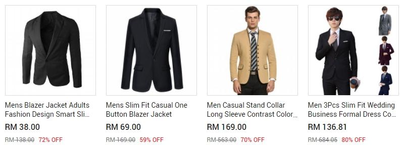 Baju blazer yang murah juga ada dijual di website 11Street Malaysia
