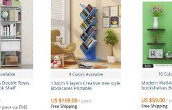 Book rack pelbagai jenis dan cantik banyak dijual di website AliExpress