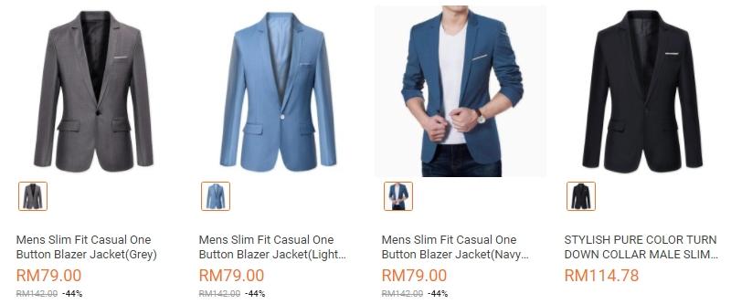 Dapatkan baju blazer murah pelbagai warna di website eCommerce Lazada Malaysia