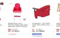 Kerusi baby yang cantik cantik ada dijual di website 11Street Malaysia