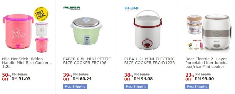 Mini rice cooker murah yang banyak dijual di website eCommerce 11Street Malaysia