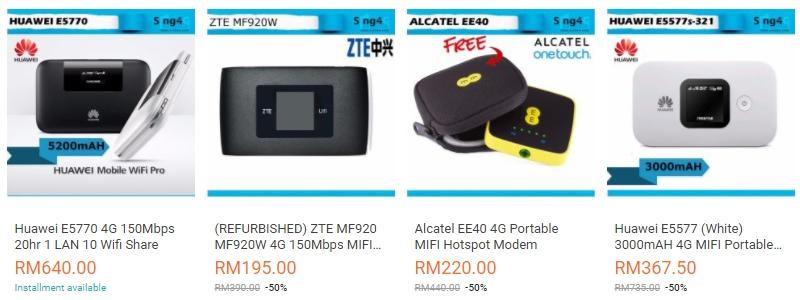 Modem Wifi Untuk Mobile Yang Bagus Di Website eCommerce Lazada Malaysia