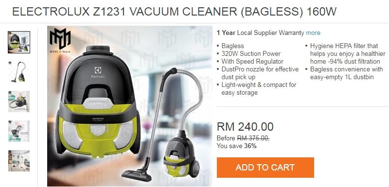 Pembersih hampagas yang bagus dan berkualiti ada dijual di Lazada Malaysia