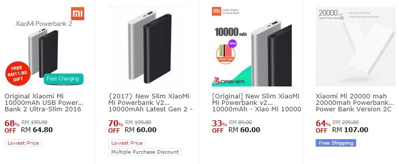 Powerbank Brand Xiaomi Yang Dijual Di Website 11Street Malaysia