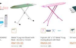 Promosi iron board murah murah terdapat di website eCommerce Lazada Malaysia