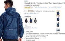 Raincoat cantik dan berkualiti boleh anda dapatkan di Amazon