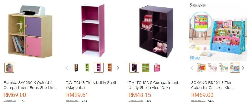 Rak buku kecil untuk anak anda yang murah terdapat di website eCommerce Lazada Malaysia