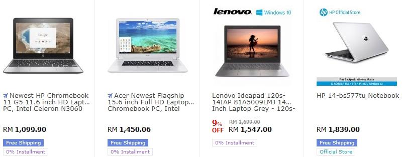 Website 11Street Malaysia juga adalah tempat untuk mencari laptop murah yang berkualiti