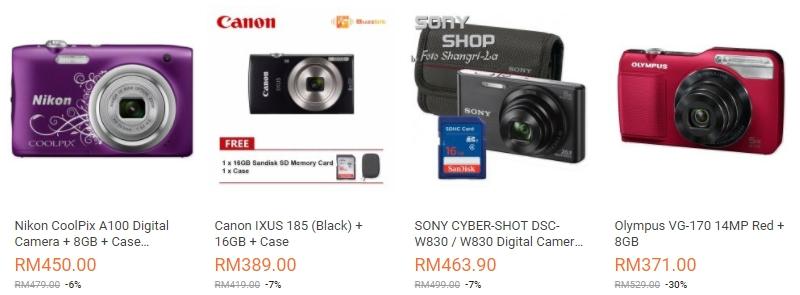 Ada banyak digital camera dengan brand berjenama, murah dan berkualiti di Lazada Malaysia