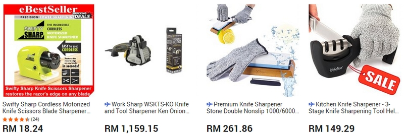 Ada banyak jenis pengasah mata pisau yang menarik di website 11Street Malaysia