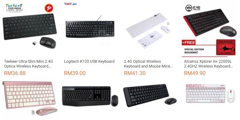 Ada banyak pilihan keyboard komputer berharga murah di website eCommerce Lazada Malaysia