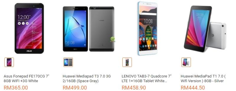 Ada banyak tablet murah bawah RM500 yang berjenama di website eCommerce Lazada Malaysia