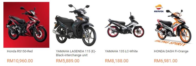 Anda boleh beli motosikal pilihan anda di internet melalui website eCommerce Lazada Malaysia