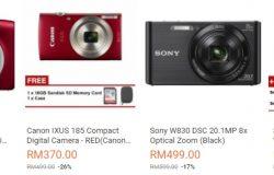 Antara jenama kamera digital terbaik dan mudah ada dijual di website eCommerce Lazada Malaysia