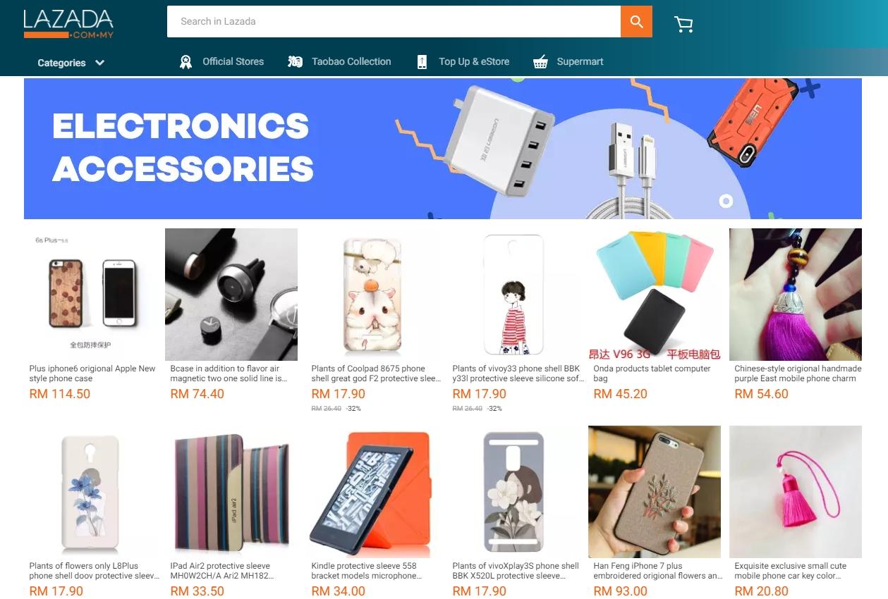 Antara produk murah dari Taobao China yang dijual melalui website eCommerce Lazada Malaysia