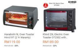 Banyak ketuhar jenis elektrik berharga murah dan berkualiti di website eCommerce Lazada Malaysia