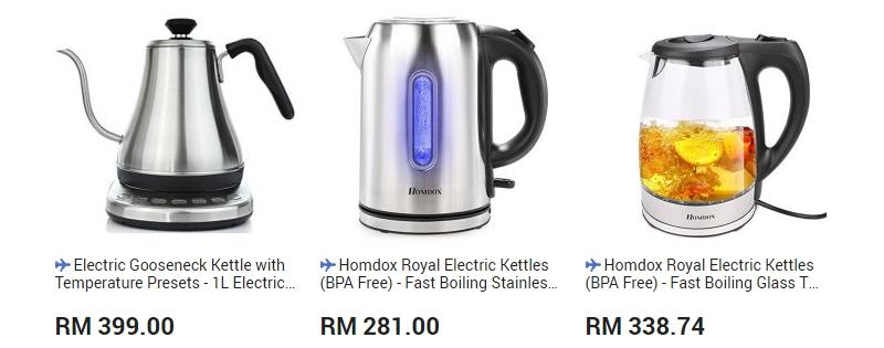 Cerek masak air elektrik yang cantik dan berkualiti boleh anda beli di website 11Street Malaysia