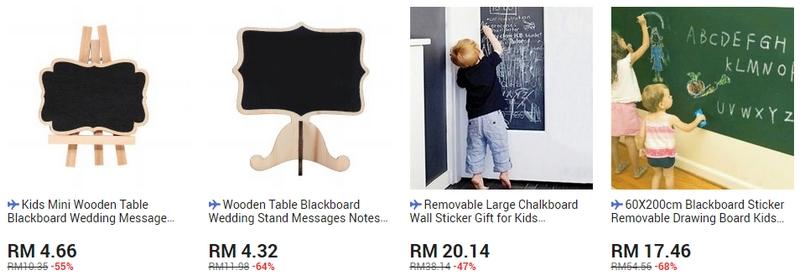Chalkboard yang simple dan mudah digunakan untuk kanak kanak kecil