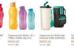 Contoh sebenar botol air minuman yang selamat digunakan di website eCommerce Lazada Malaysia