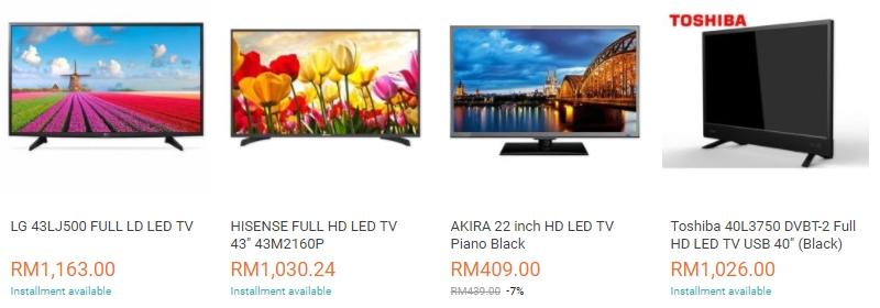 Dapatkan TV LED jenis smart tv murah melalui website eCommerce Lazada Malaysia