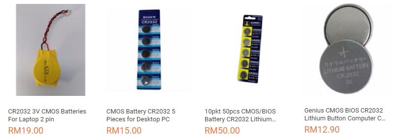 Dapatkan bateri cmos untuk komputer atau laptop murah di website eCommerce Lazada Malaysia