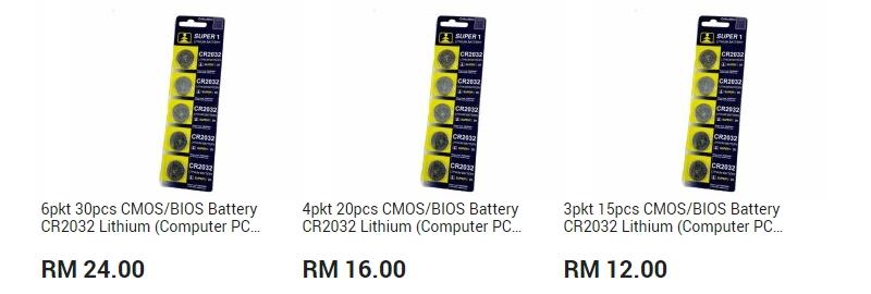 Dapatkan bateri jenis cmos untuk komputer desktop di website 11Street Malaysia
