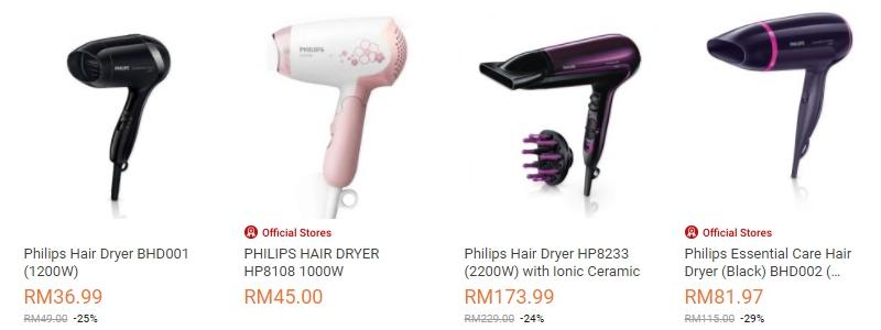 Dapatkan pengering rambut berjenama dan juga murah di website eCommerce Lazada Malaysia