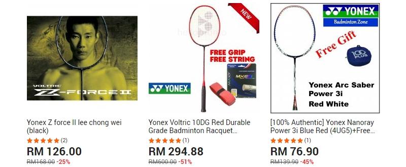 Dapatkan raket badminton Lee Chong Wei di website 11Street Malaysia