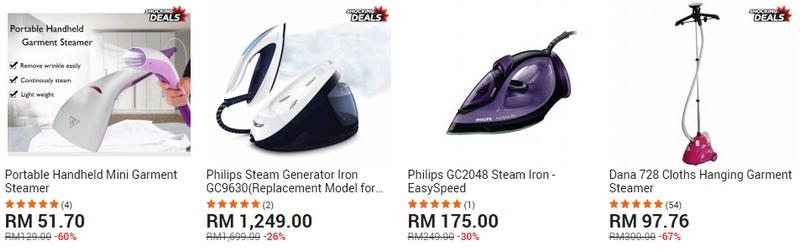 Dapatkan seterika jenis steam di website 11Street Malaysia