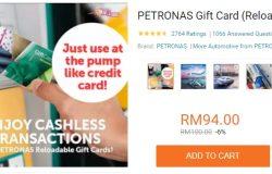 Gunakan PETRONAS gift card seperti kad kredit di pam minyak petrol di Petronas