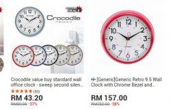 Jam untuk dinding yang cantik dan menarik ada dijual di website 11Street Malaysia